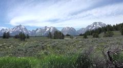 Grand Teton National Park Mountains road traffic HD 051 Stock Footage