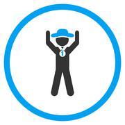 Agent Champion Circled Icon Stock Illustration