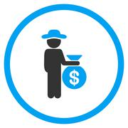 Gentleman Investor Rounded Icon Stock Illustration