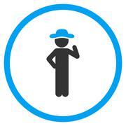 Guy Proposal Circled Icon - stock illustration