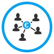 Euro Client Payments Rounded Icon - stock illustration