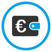 Euro Purse Rounded Icon Stock Illustration