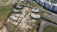 Banruplt Abandoned Incomplete Buildings Playa Blanca Panama Beach  Stock Footage