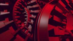 Random cogs geometric blocks abstract motion background Stock Footage