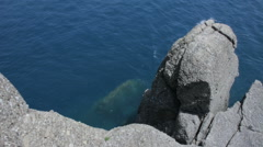 Coastal Rocks of Punta Portofino in Italy - 25FPS PAL Stock Footage