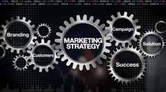 Gear, Branding, Solution,Customers, Campaign, Success, 'Marketing Strategy' Stock Footage