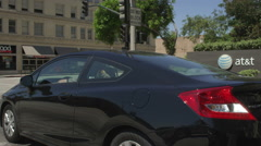 Right Front Three Quarter view of a Driving Plate: Car travels on Colorado Stock Footage
