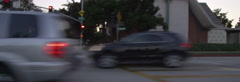 Left Side view of a Driving Plate: Car travels on South Hill Avenue in Pasadena, Stock Footage