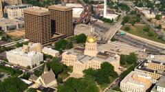 Orbiting Georgia State Capitol in Atlanta. Shot in 2007. Stock Footage