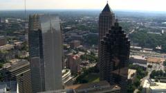 Orbiting skyscrapers of Midtown Atlanta, Georgia. Shot in 2007. Stock Footage