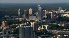 Aerial view of Buckhead, north of Atlanta, Georgia. Shot in 2007. - stock footage