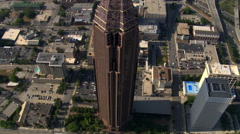 Orbiting Bank of America Plaza in Atlanta, Georgia. Shot in 2007. Stock Footage