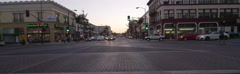 Front view of a Driving Plate: Car travels on Colorado Boulevard in Pasadena, Stock Footage