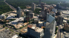 Flight over Buckhead district, north of Atlanta, Georgia. Shot in 2007. - stock footage