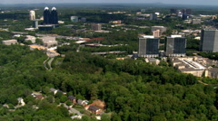 Flight over Central Perimeter area, north of Atlanta, Georgia. Shot in 2007. - stock footage