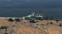 Aerial zoom-out from top of Stone Mountain, Georgia. Shot in 2007. Stock Footage