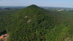 Slow flight toward Kennesaw Mountain National Battlefield near Atlanta, Georgia. Stock Footage