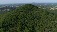 Flight approaching Kennesaw Mountain National Battlefield near Atlanta, Georgia. Stock Footage