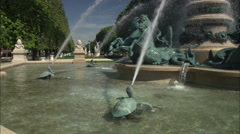 Fountain of the Four Parts of the World, Paris Stock Footage