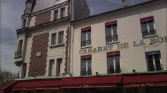 Cabaret de la Boheme, Paris Stock Footage