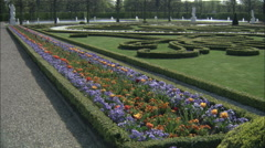 Parterre designs in Herrenhausen Gardens at Hannover, Germany Stock Footage