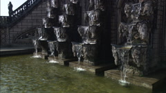 Grotto and pond in the Herrenhausen Gardens of Hannover, Germany - stock footage