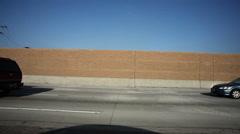 Light traffic on Interstate 5 near Burbank, California Stock Footage