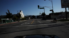 Stock Video Footage of The 400 block of West Magnolia Boulevard in Burbank, California, driver's POV