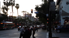 Intersection of Hollywood Boulevard and Whitley Avenue, Los Angeles - stock footage