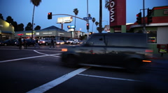 Intersection of Hollywood Boulevard and La Brea Avenue - stock footage