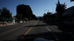 Driving on West Magnolia Boulevard through Burbank, California - stock footage