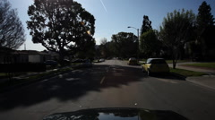 Residential area in Burbank, California - stock footage