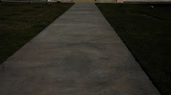 Walkway and stairs into Courts of Remembrance at Forest Lawn Memorial Park - stock footage