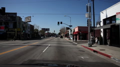Driving on Melrose Avenue, Los Angeles Stock Footage