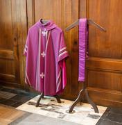 Clothing of a Catholic bisshop Stock Photos