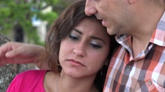 Man Showing Empathy To Woman - stock footage