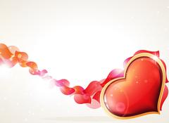 Heart and petals Stock Illustration