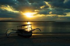 Nusa penida, Bali sea - stock photo