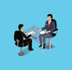 Isometric Hiring Recruiting Interview Stock Illustration
