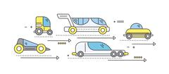Concept Car of the Future Road Transport Stock Illustration
