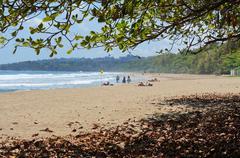 Cocles beach on the Caribbean coast of Costa Rica Stock Photos