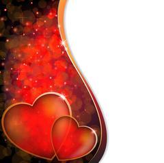 Shining hearts Stock Illustration