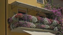 Flowers on Balcony in Sirmione Italy - 29,97FPS NTSC Stock Footage