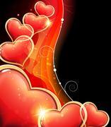 Valentine hearts wave Stock Illustration