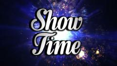 SHOW TIME  Animation Text and Disco Dance Background, Zoom IN/OUT Rotation, with Stock Footage