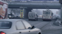 Chelyabinsk, Russia, Car traffic Stock Footage