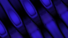 Background of interlocking blue strips Stock Footage