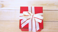 Gift box with gourmet chocolates on a white background. Stock Footage