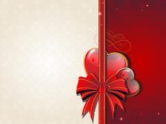 Valentines Day Retro card - stock illustration