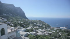 Stock Video Footage of Houses on Island Capri Bay of Naples Italy - 29,97FPS NTSC